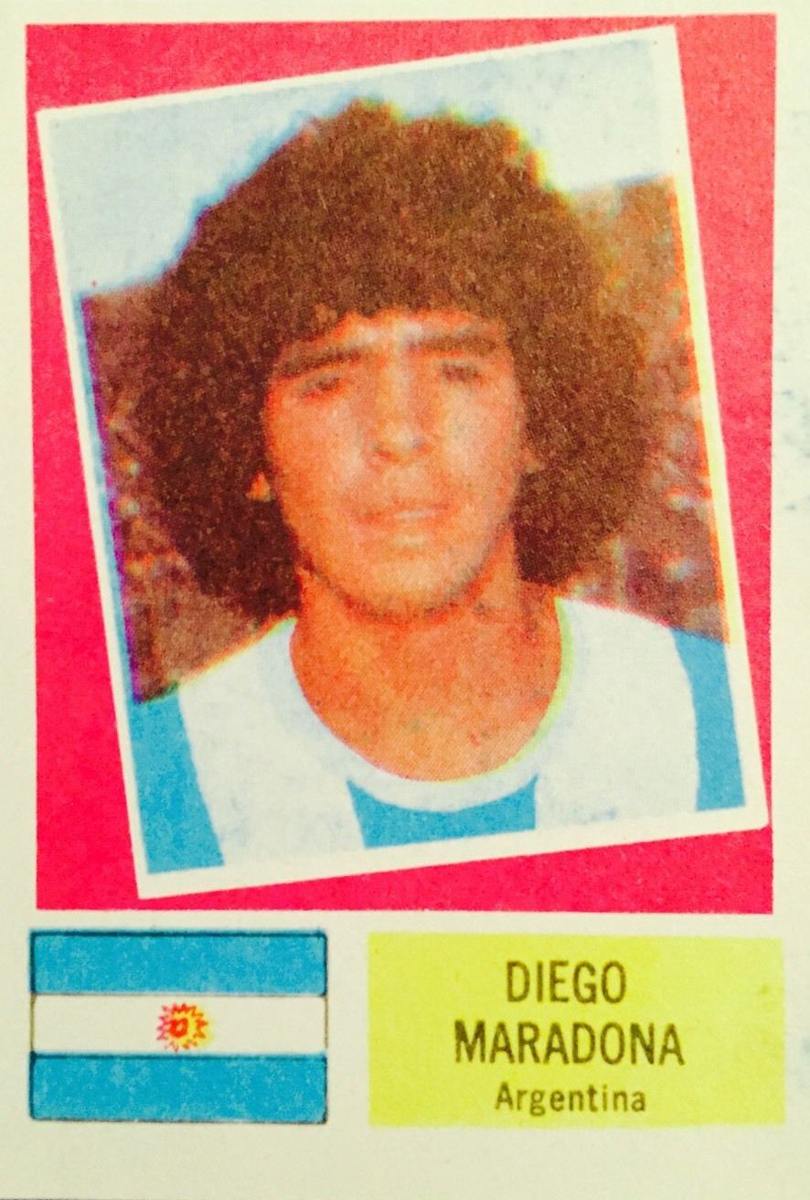 1978 Crack Campeonato Mundial #AR10 Diego Maradona