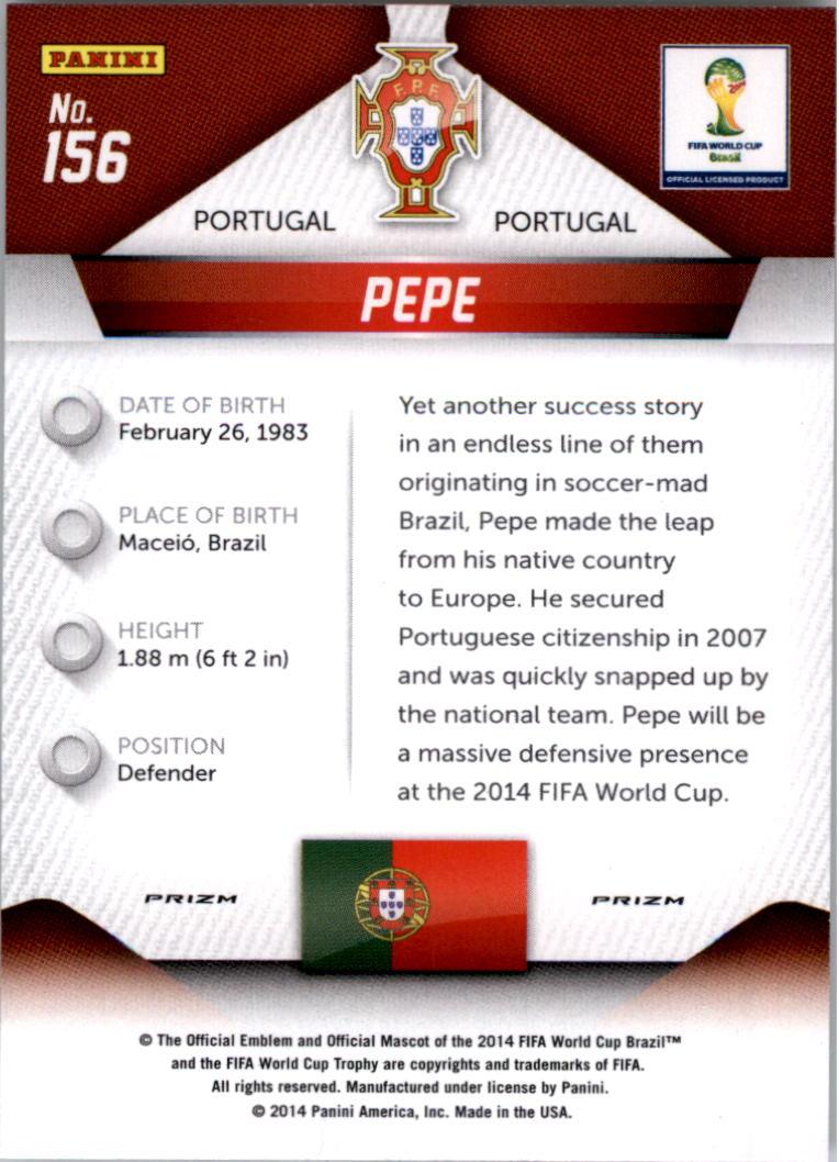 2014 Panini Prizm World Cup Prizms #156 Pepe