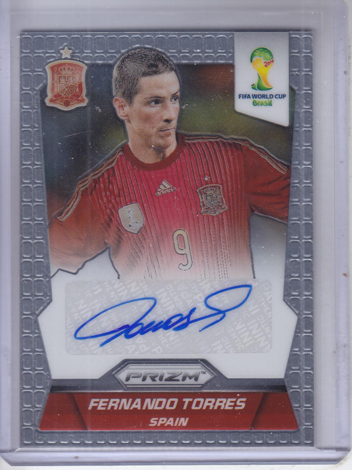 2014 Panini Prizm World Cup Signatures #SFT Fernando Torres