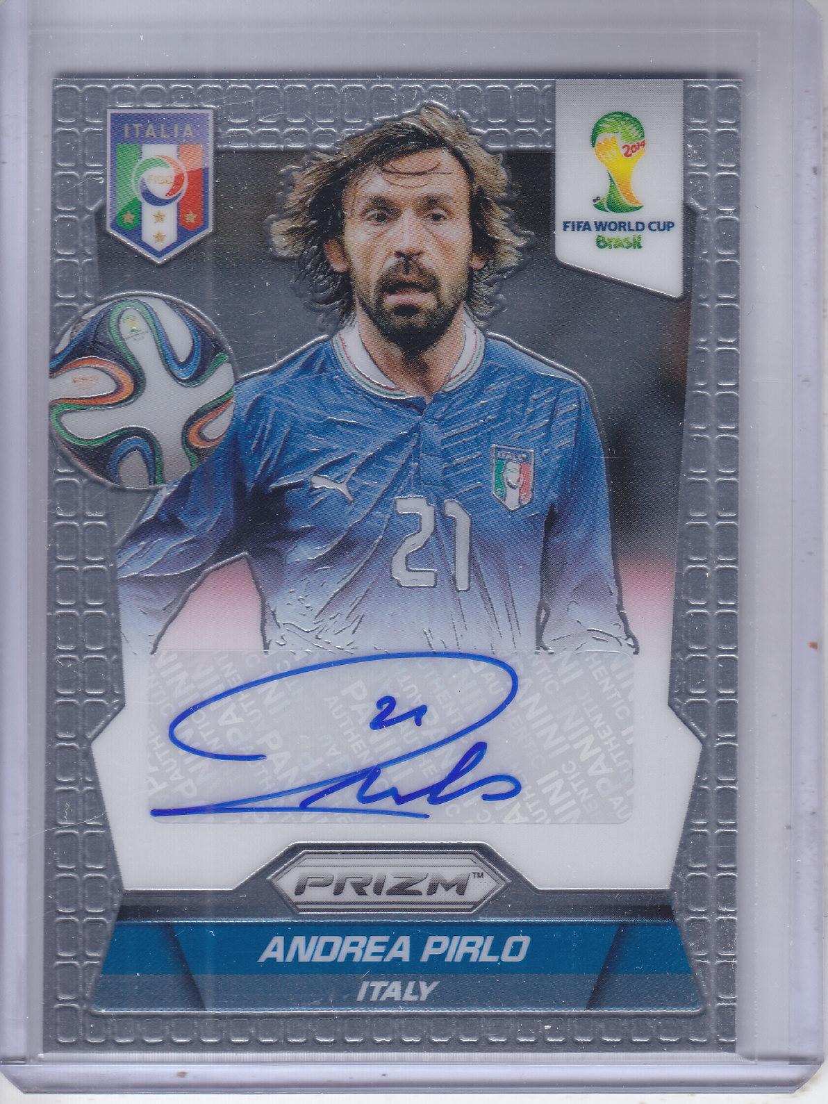 2014 Panini Prizm World Cup Signatures #SAP Andrea Pirlo