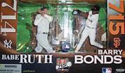 2006 McFarlane Baseball Commemorative 2-Pack #10 Barry Bonds/Babe Ruth