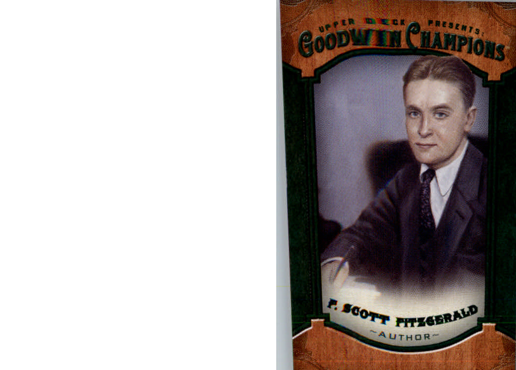 2014 Upper Deck Goodwin Champions Mini Green #139 F. Scott Fitzgerald