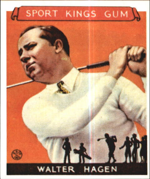 1933 Sport Kings #8 Walter Hagen Golf
