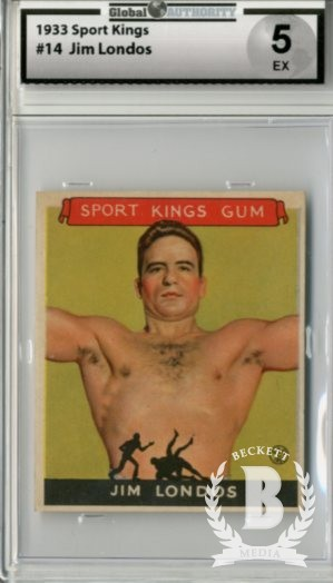 1933 Sport Kings #14 Jim Londos Wrestling