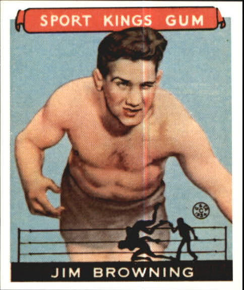 1933 Sport Kings #41 Jim Browning Wrestling