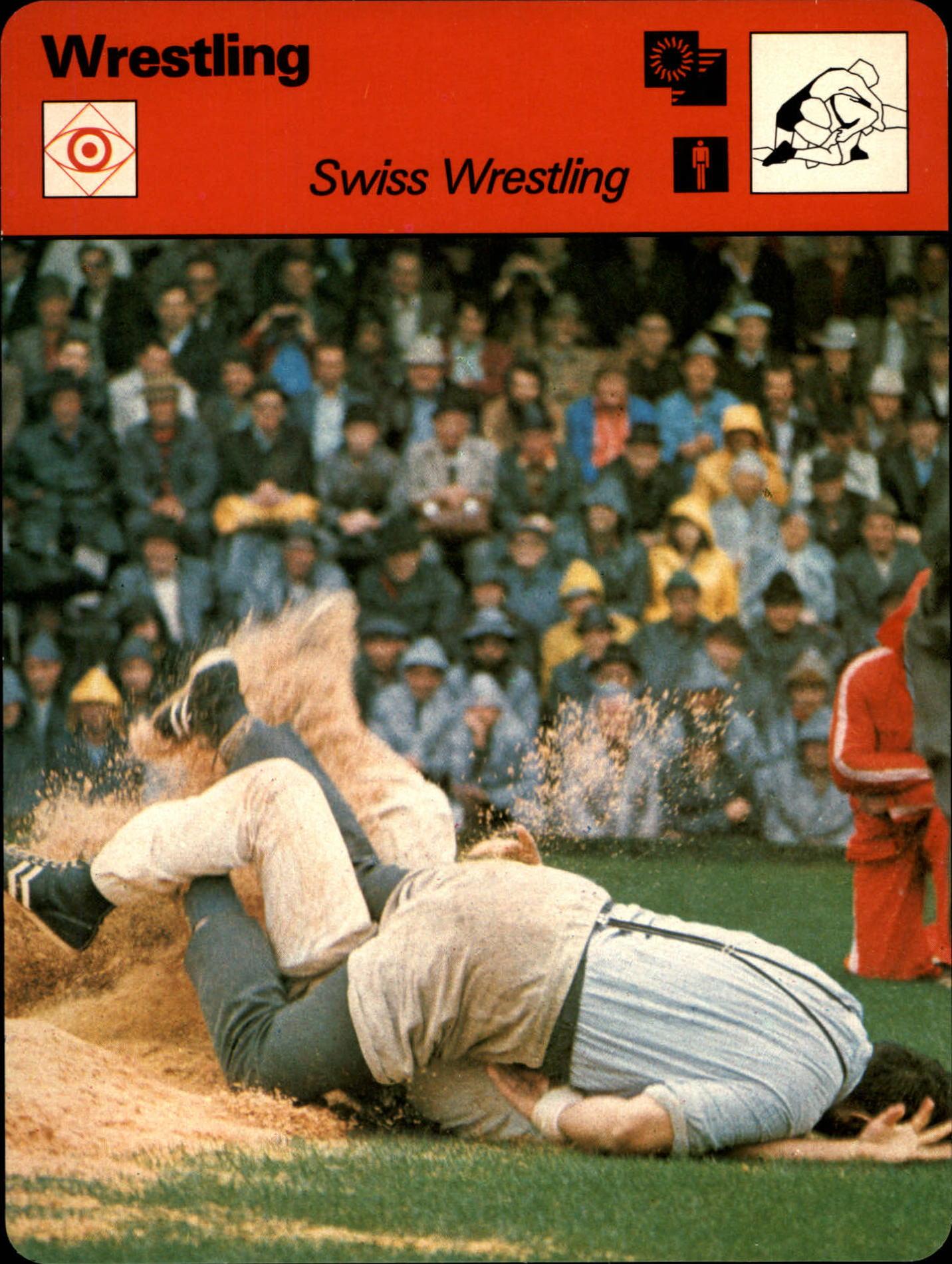 1977-79 Sportscaster Series 69 #6920 Swiss Wrestling