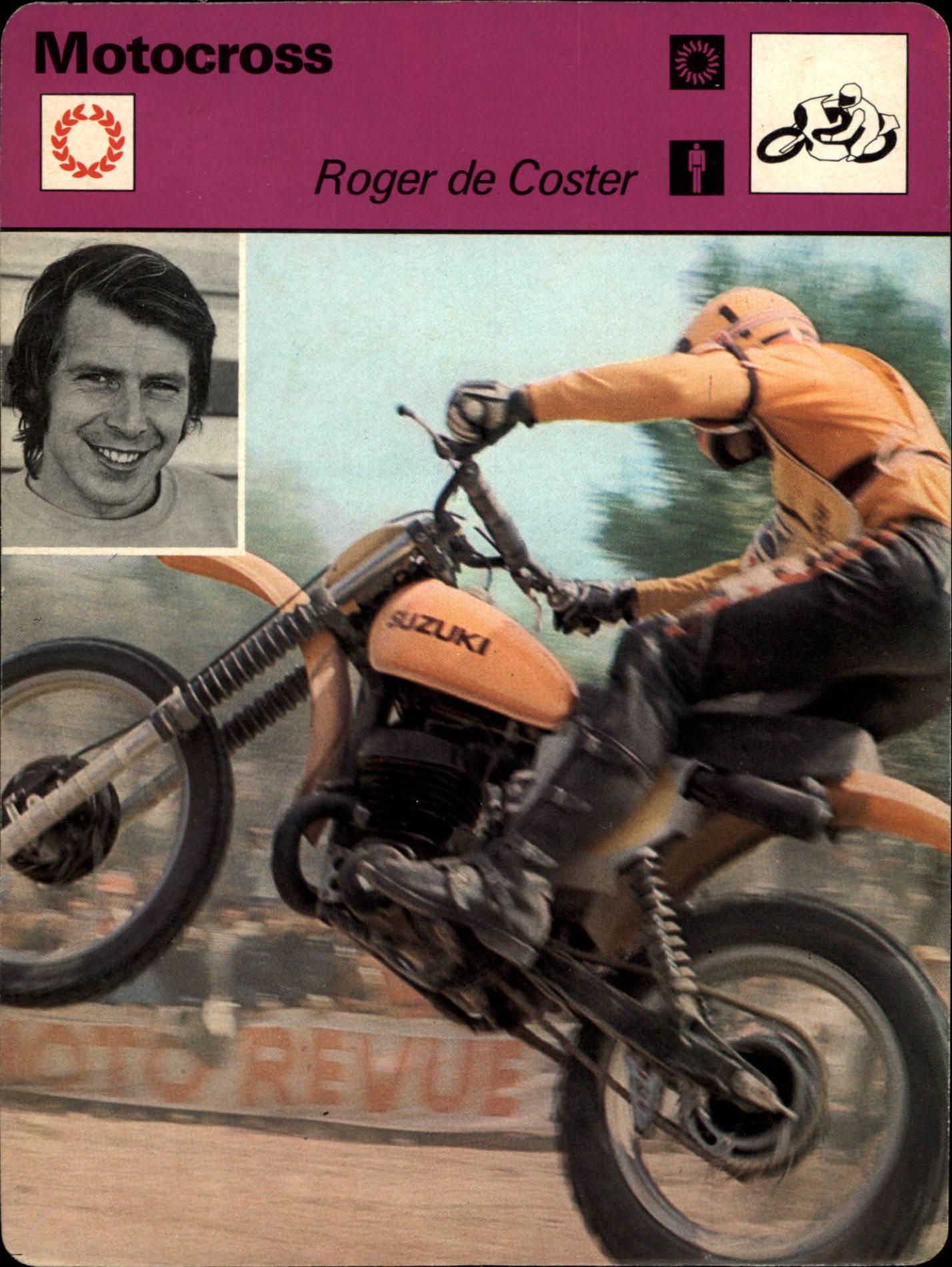 1977-79 Sportscaster Series 1 #101 Roger De Coster