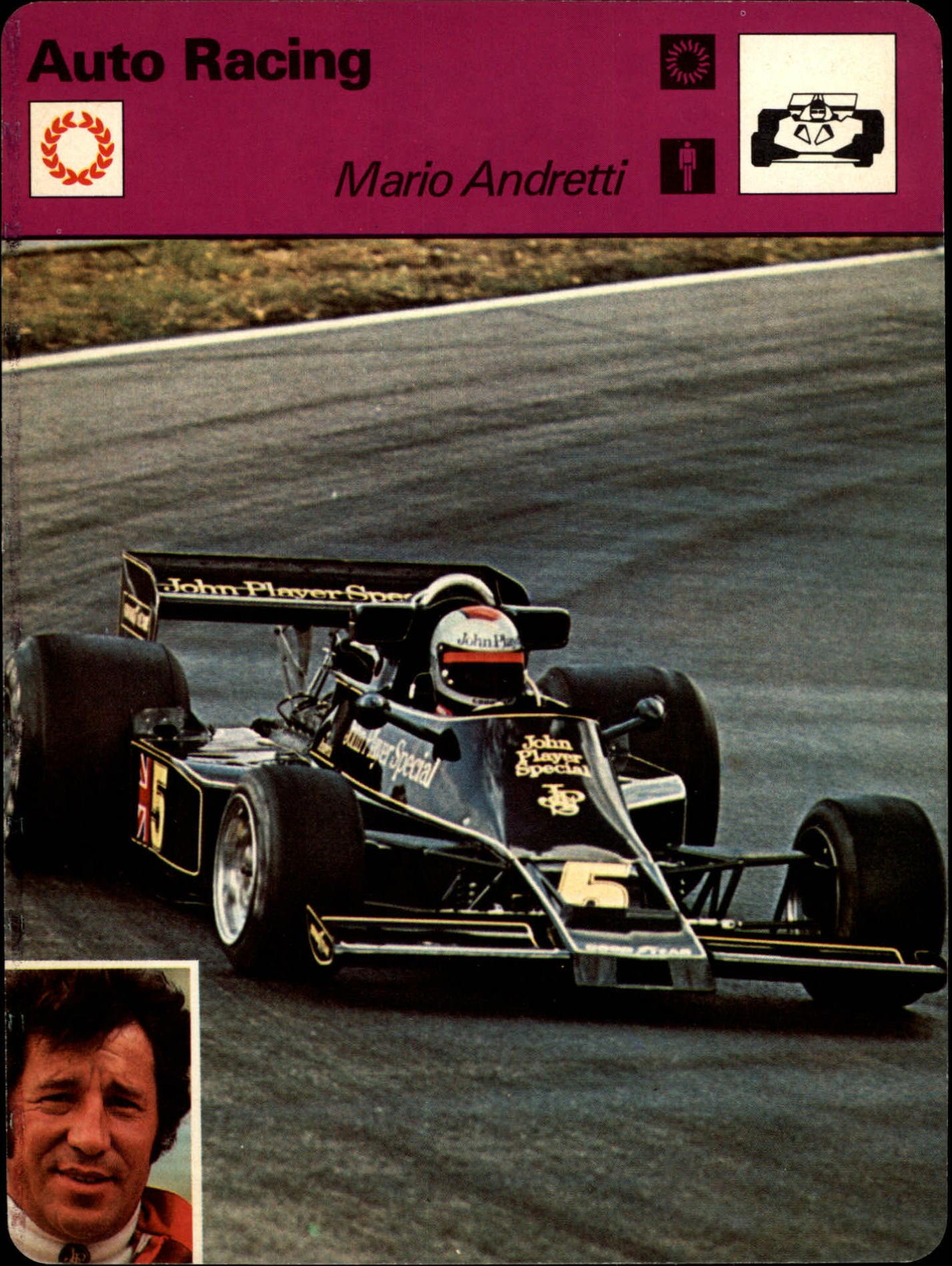 1977-79 Sportscaster Series 10 #1009 Mario Andretti