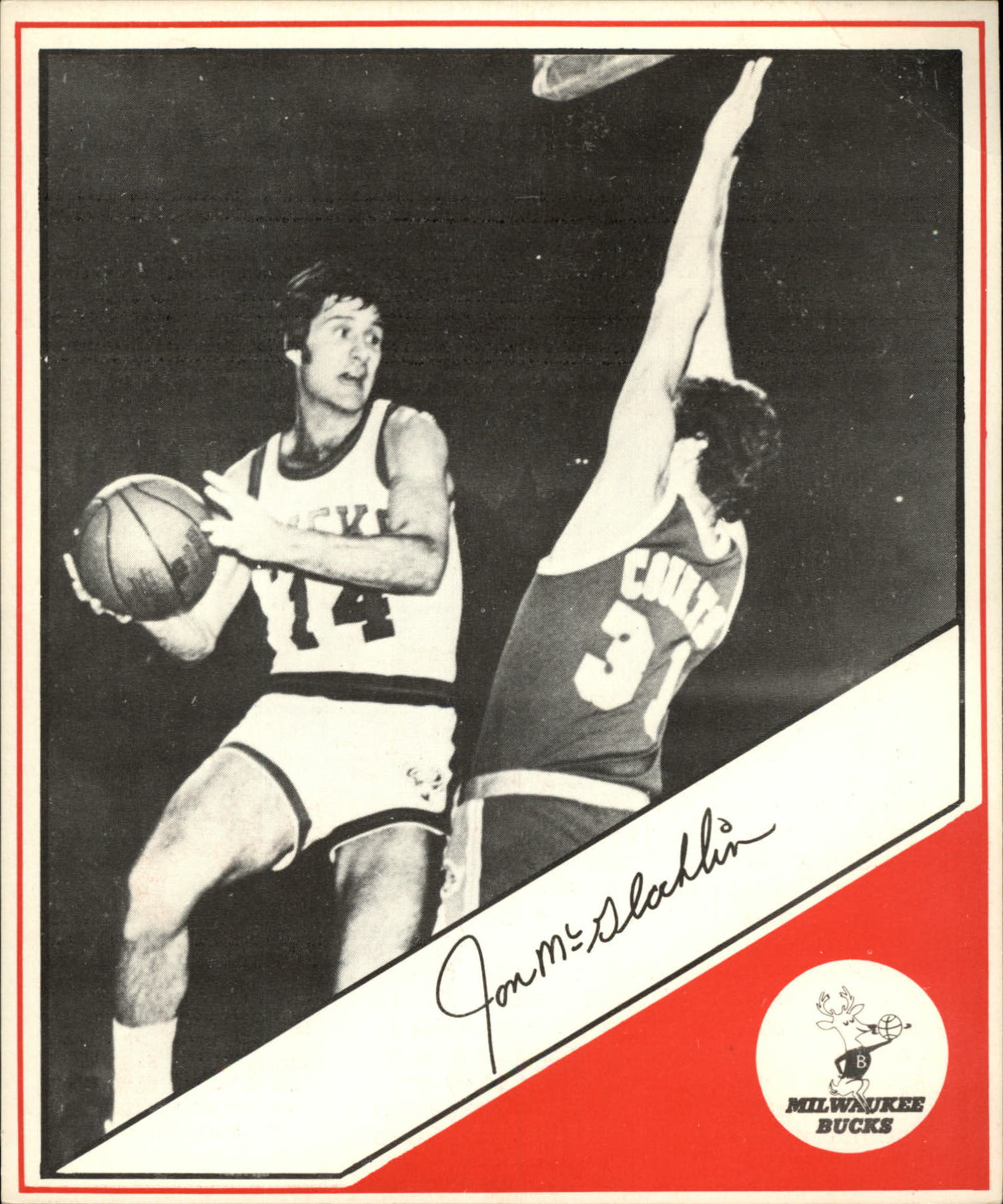 1979 Open Pantry 10 Jon McGlocklin Milwaukee Bucks NM