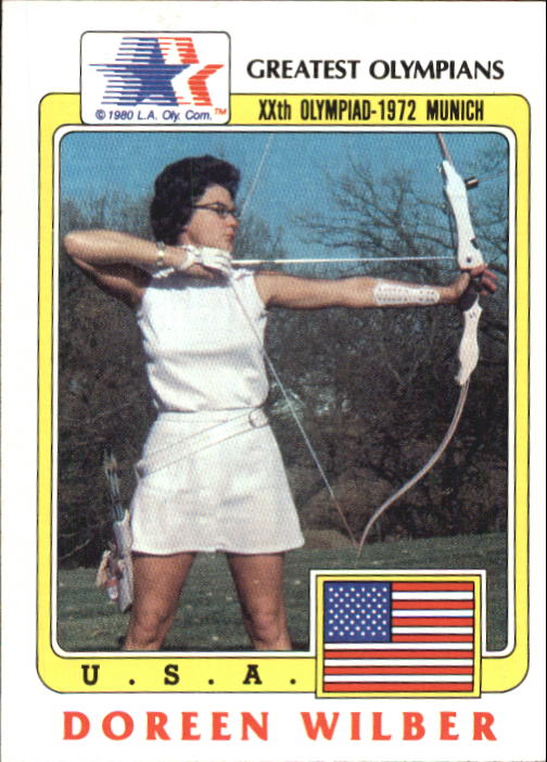 1983 Topps History's Greatest Olympians #25 Doreen Wilber