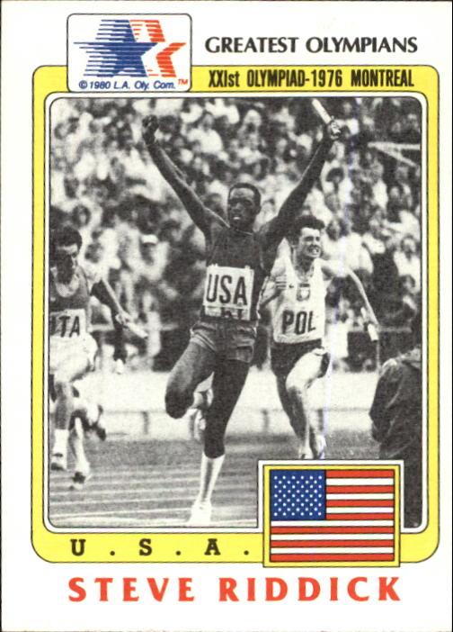 1983 Topps History's Greatest Olympians #51 Steve Riddick