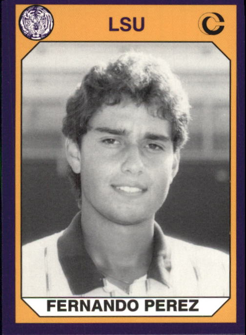 1990 LSU Collegiate Collection #193 Fernando Perez TEN