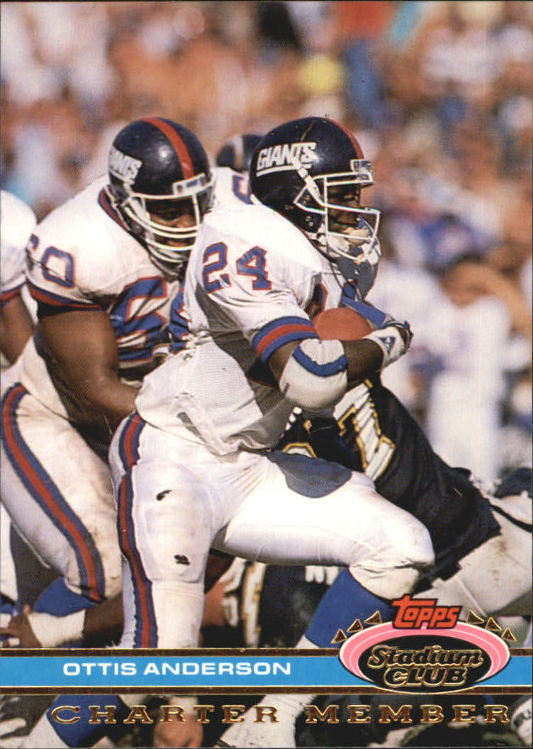 1991 Stadium Club Charter Member #33 Ottis Anderson/Anderson& MVP of/Super Bowl XXV