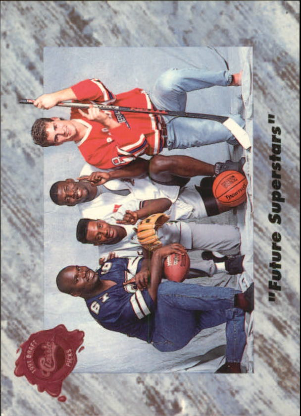 1991 Classic Four Sport French #1 Future Superstars