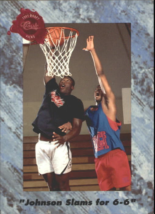 1991 Classic Four Sport #201 Johnson Slams for 6-6 Tie/(Larry Johnson)