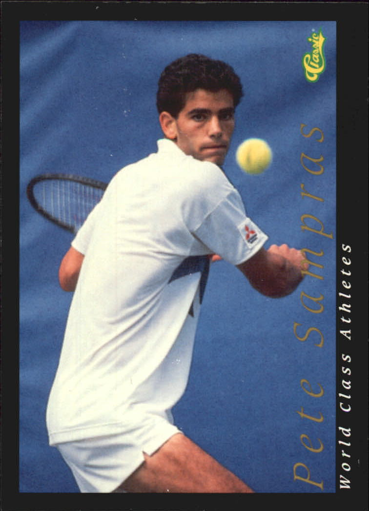 1992 Classic World Class Athletes #37 Pete Sampras/Tennis