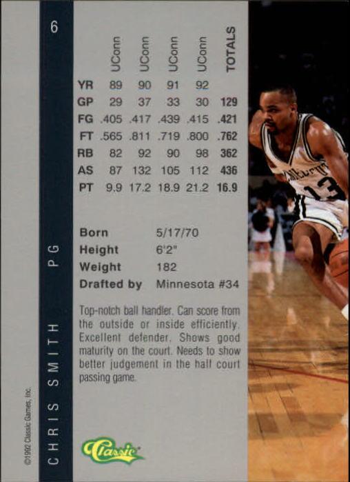 1992 Classic Four Sport #6 Chris Smith back image