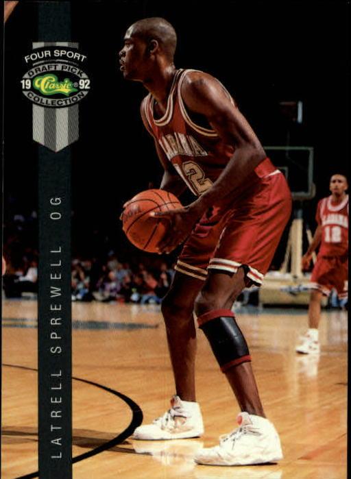 1992 Classic Four Sport #18 Latrell Sprewell