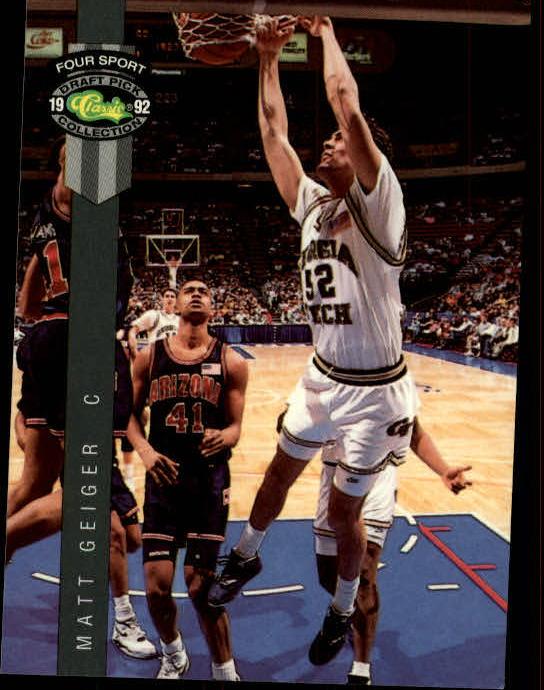 1992 Classic Four Sport #27 Matt Geiger