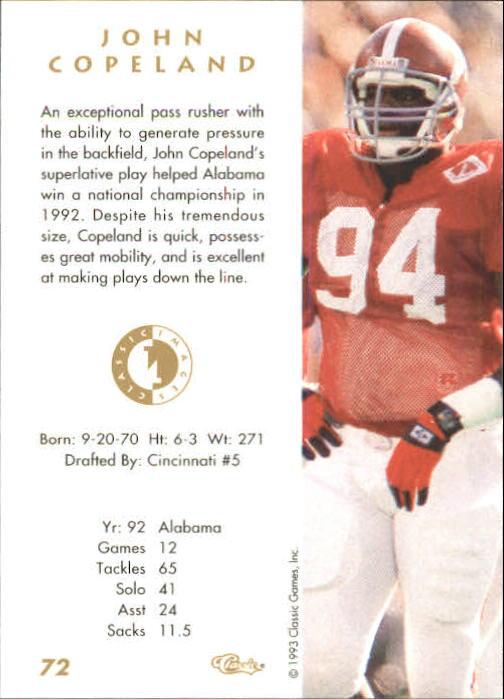 Sports Card Back