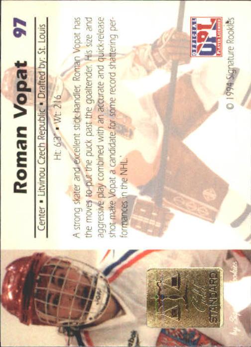 1994 Signature Rookies Gold Standard #97 Roman Vopat back image