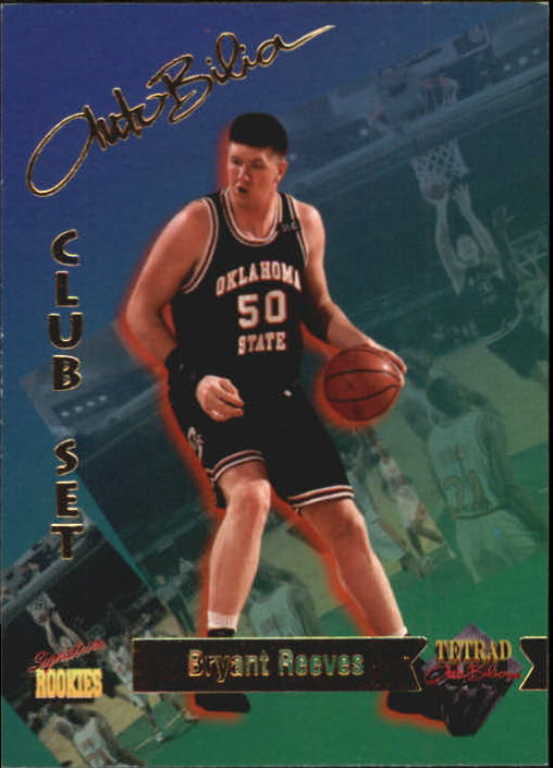 1995 Signature Rookies Tetrad Autobilia #9 Bryant Reeves