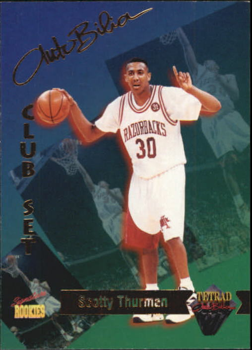 1995 Signature Rookies Tetrad Autobilia #13 Scotty Thurman