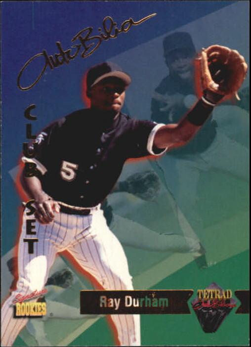 1995 Signature Rookies Tetrad Autobilia #27 Ray Durham