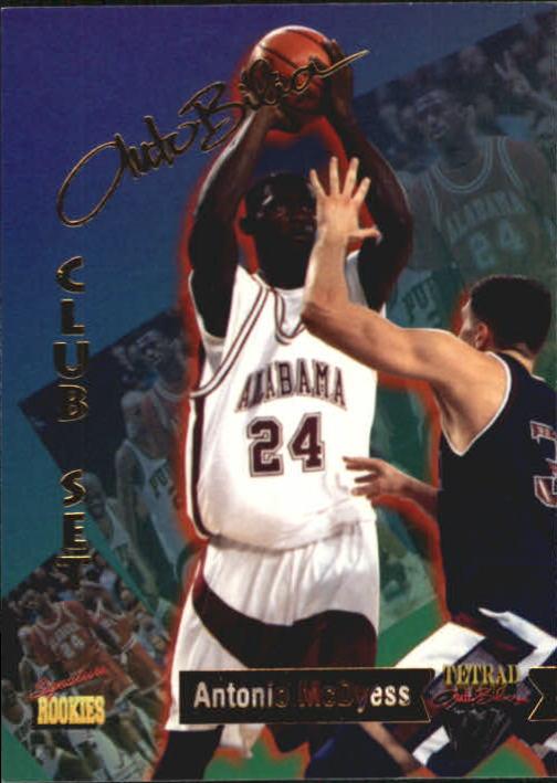 1995 Signature Rookies Tetrad Autobilia #71 Antonio McDyess
