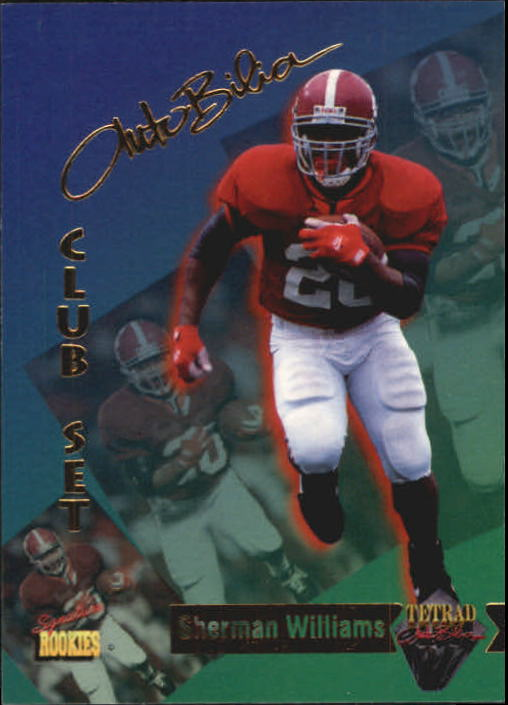 1995 Signature Rookies Tetrad Autobilia #76 Sherman Williams