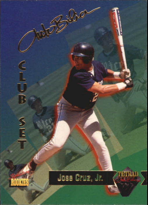 1995 Signature Rookies Tetrad Autobilia #85 Jose Cruz Jr.