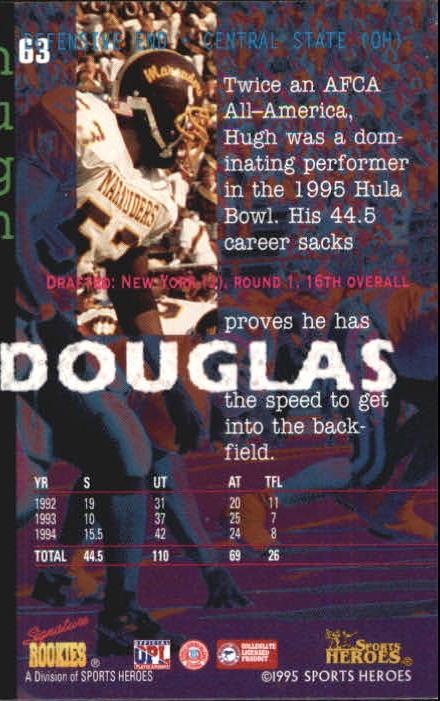 1995 Signature Rookies Fame and Fortune #63 Hugh Douglas back image