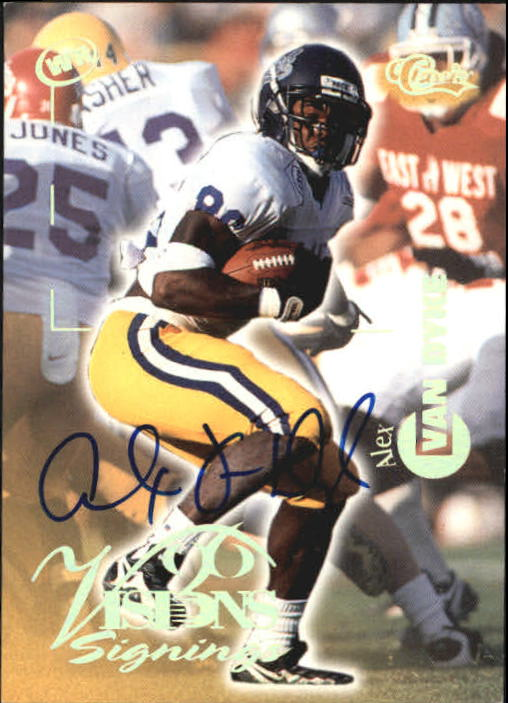 1996 Visions Signings Autographs Gold #66 Alex Van Dyke