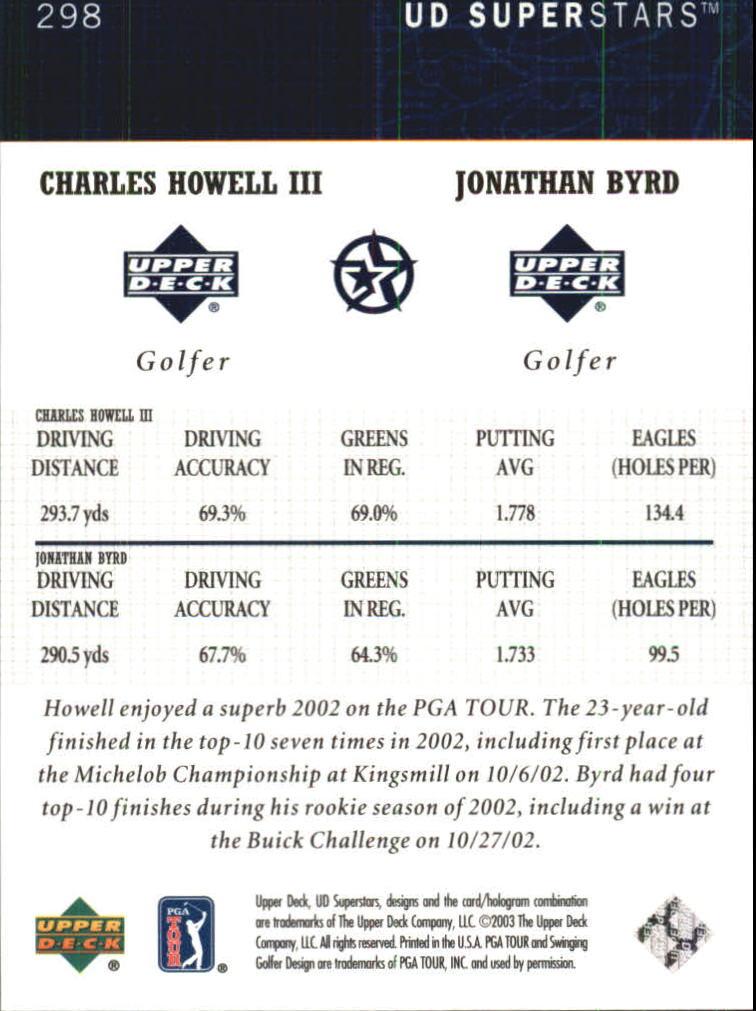 2002-03 UD SuperStars #298 C.Howell III/J.Byrd back image