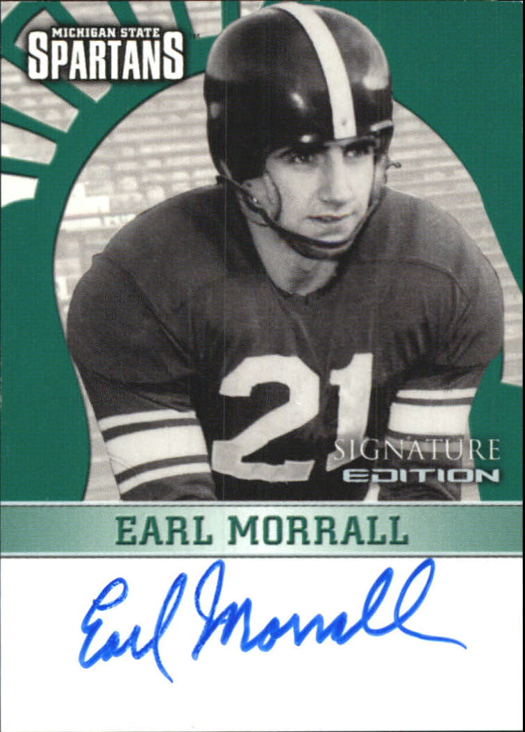2003 Michigan State TK Legacy Autographs #S17 Earl Morrall