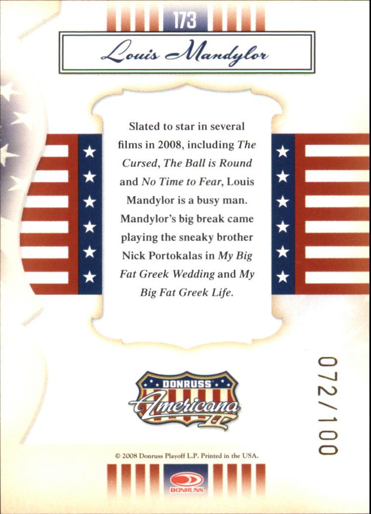 2008 Americana II Gold Proofs #173 Louis Mandylor back image