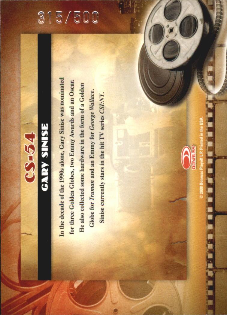 2008 Americana II Cinema Stars #54 Gary Sinise back image
