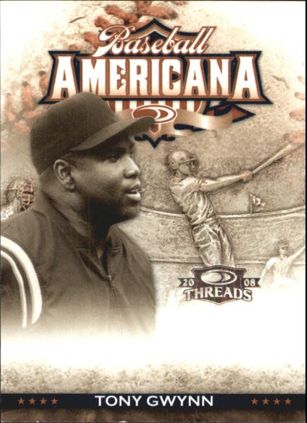 2008 Donruss Threads Baseball Americana #13 Tony Gwynn