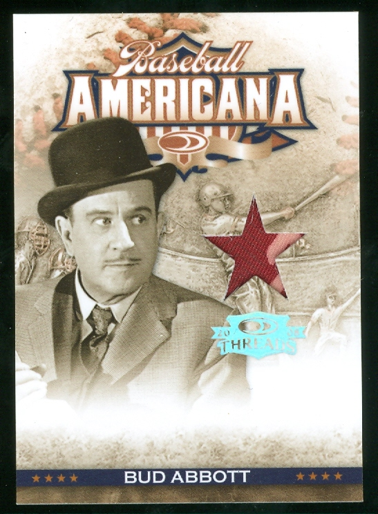 2008 Donruss Threads Baseball Americana Materials Position #1 Bud Abbott/200