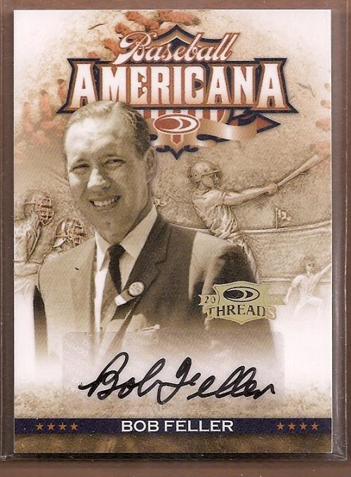 2008 Donruss Threads Baseball Americana Signatures #20 Bob Feller/100