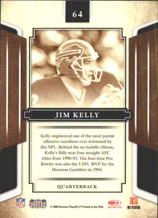 2008 Donruss Sports Legends #64 Jim Kelly back image
