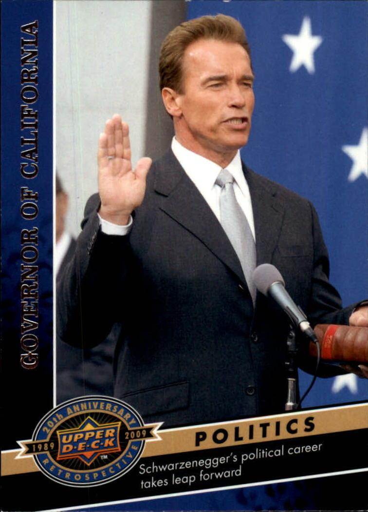 2009 Upper Deck 20th Anniversary #1844 Arnold Schwarzenegger