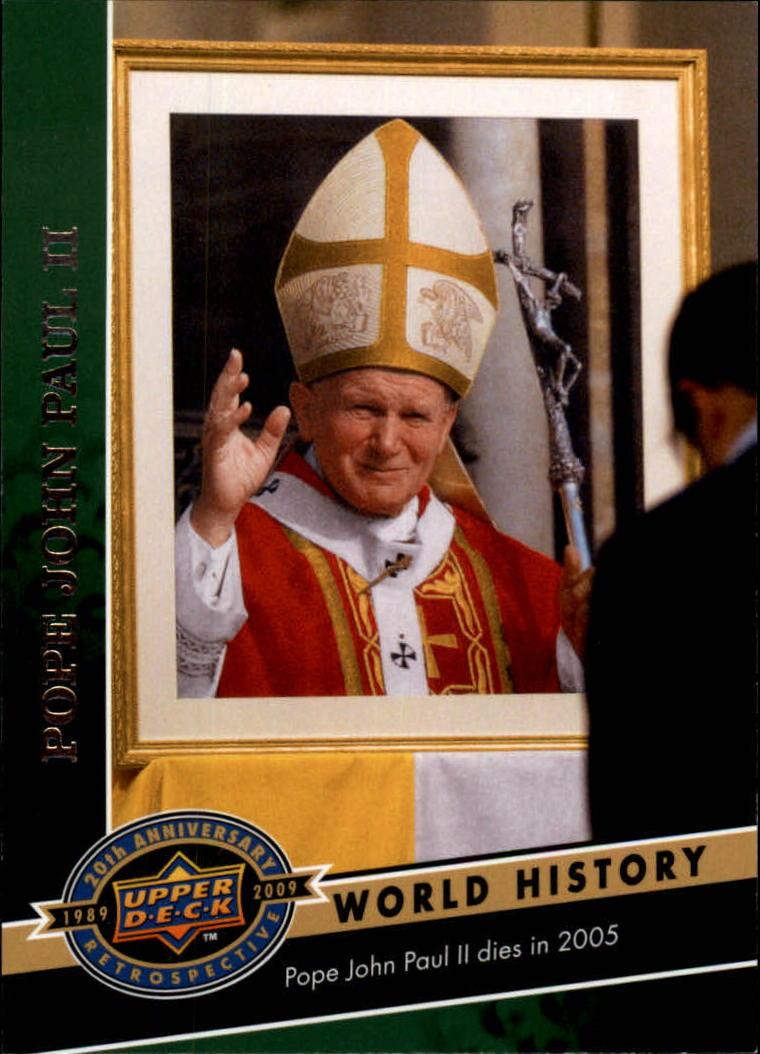 2009 Upper Deck 20th Anniversary #2023 Pope John Paul II