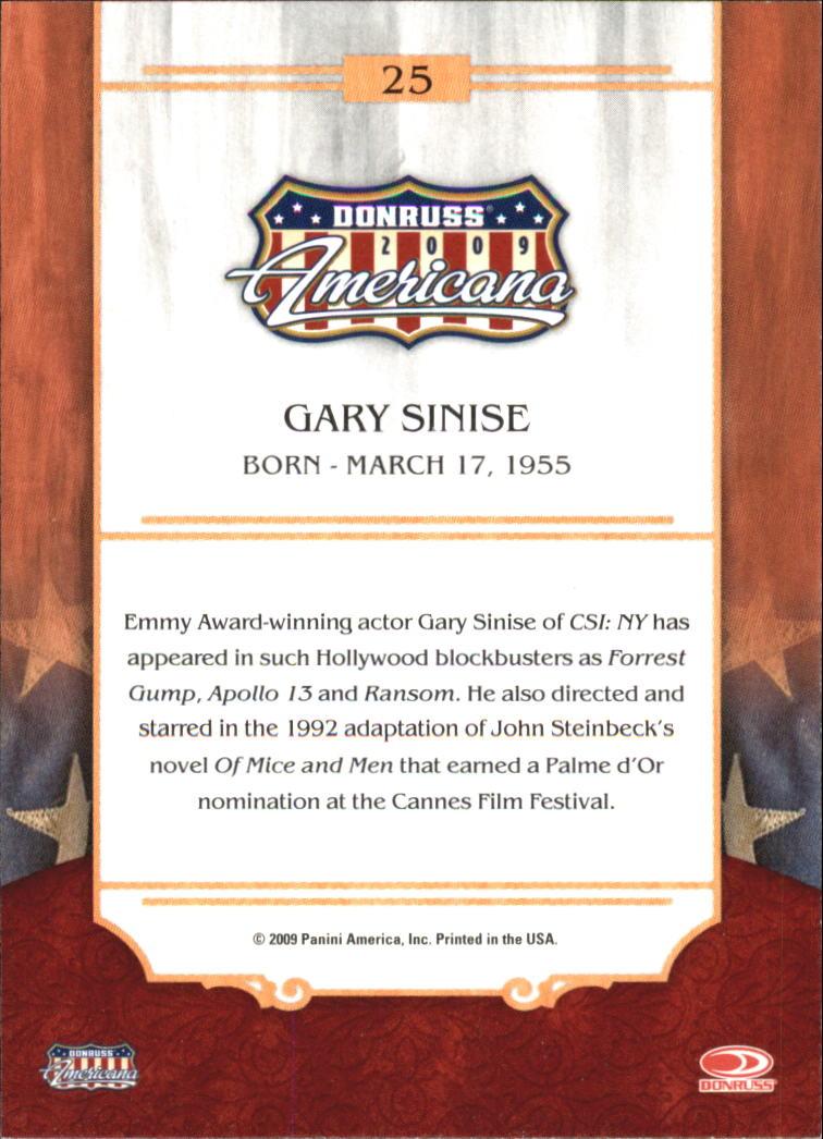 2009 Americana #25 Gary Sinise back image