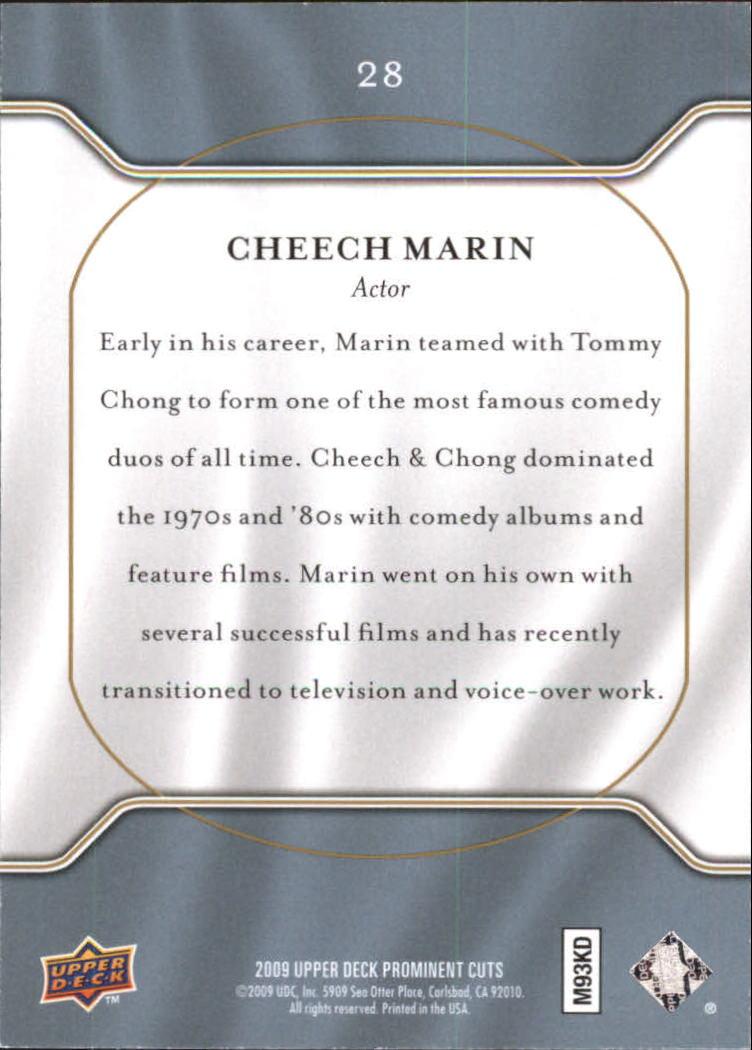 2009 Upper Deck Prominent Cuts #28 Cheech Marin back image