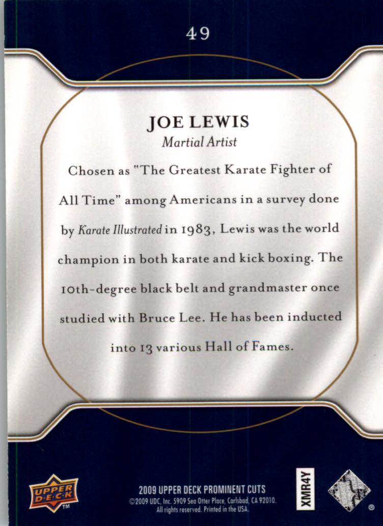 2009 Upper Deck Prominent Cuts #49 Joe Lewis back image