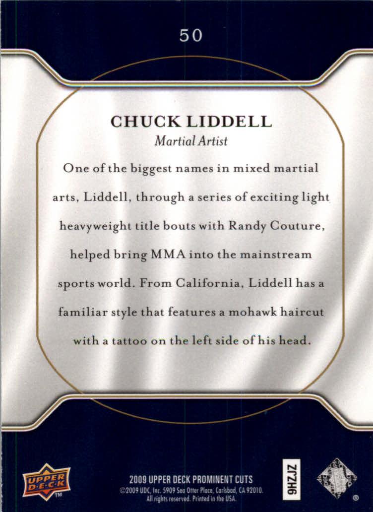 2009 Upper Deck Prominent Cuts #50 Chuck Liddell back image