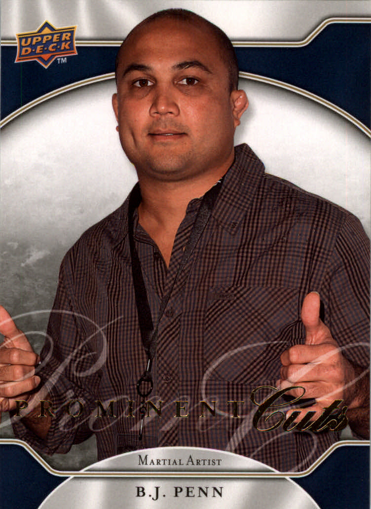 2009 Upper Deck Prominent Cuts #54 B.J. Penn