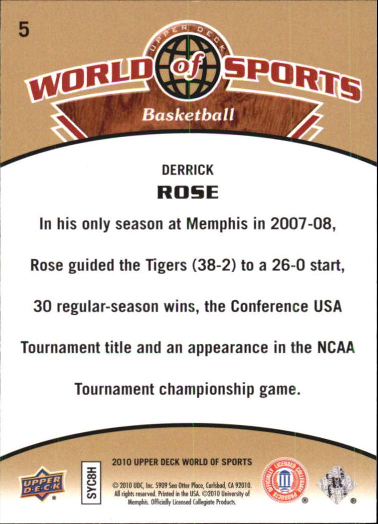 2010 Upper Deck World of Sports #5 Derrick Rose back image