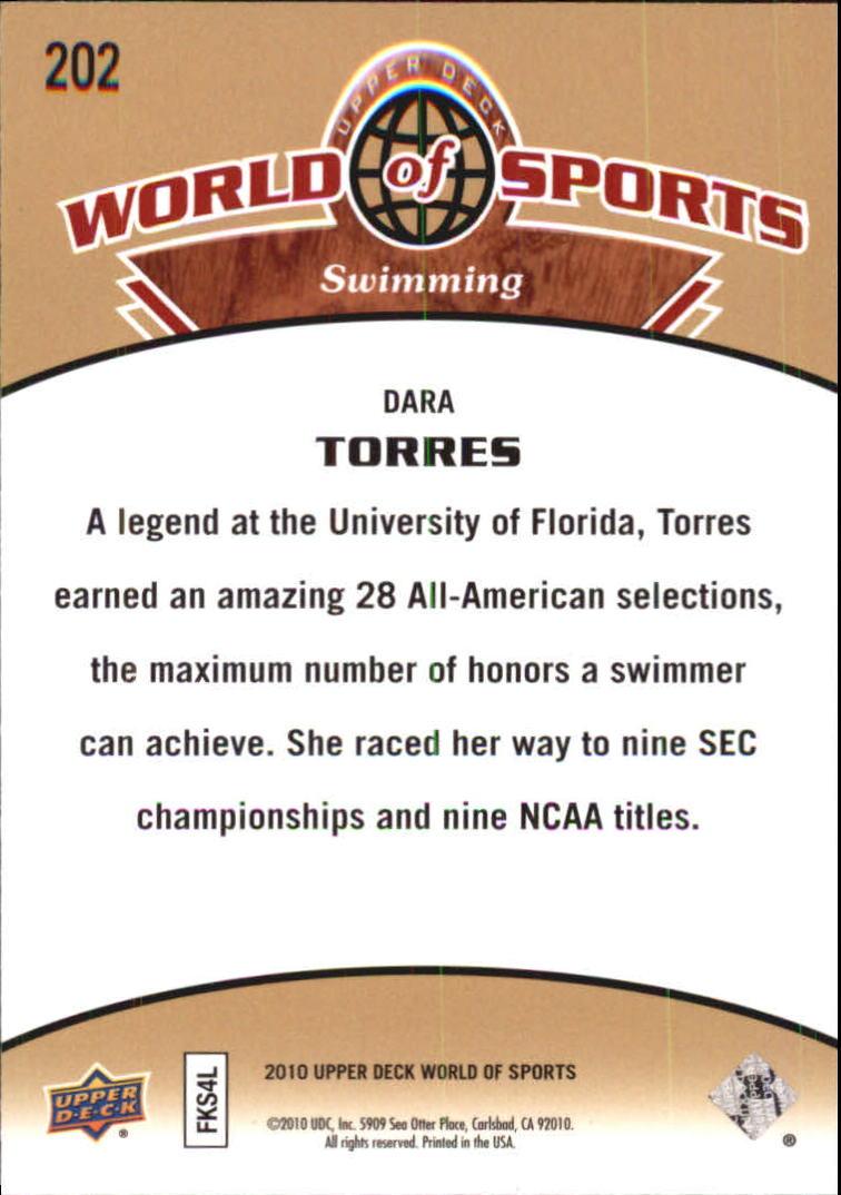 2010 Upper Deck World of Sports #202 Dara Torres back image